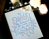 Motivational Quote, Calligraphy Print, Hand lettered Print, She Believed She Could So She Did--Print