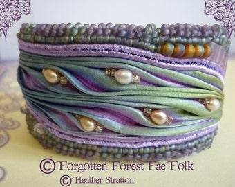 Shibori silk cuff bracelet (NOW REDUCED)