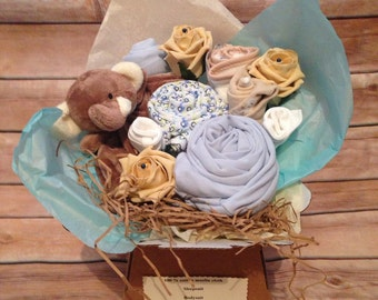 Baby shower clothing bouquet
