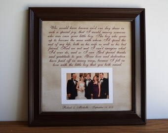 Parents of the Groom, Mother of the Groom, Father of the Groom, Parents Gift, Groom Wedding Frame Gift, Groom Thank You Gift, Wedding Gift