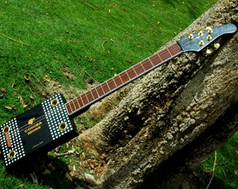 Black Cohiba Cigar Box Guitar
