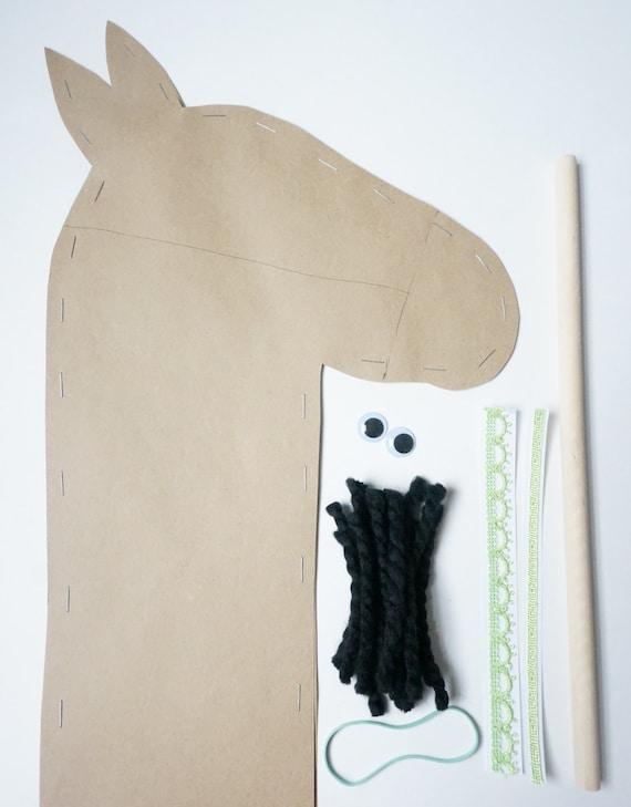 Stick Horse Craft Kids