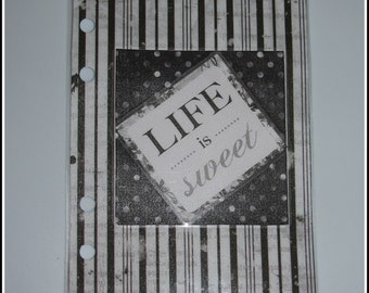 Life Is Sweet B&W Personal Planner Dashboard