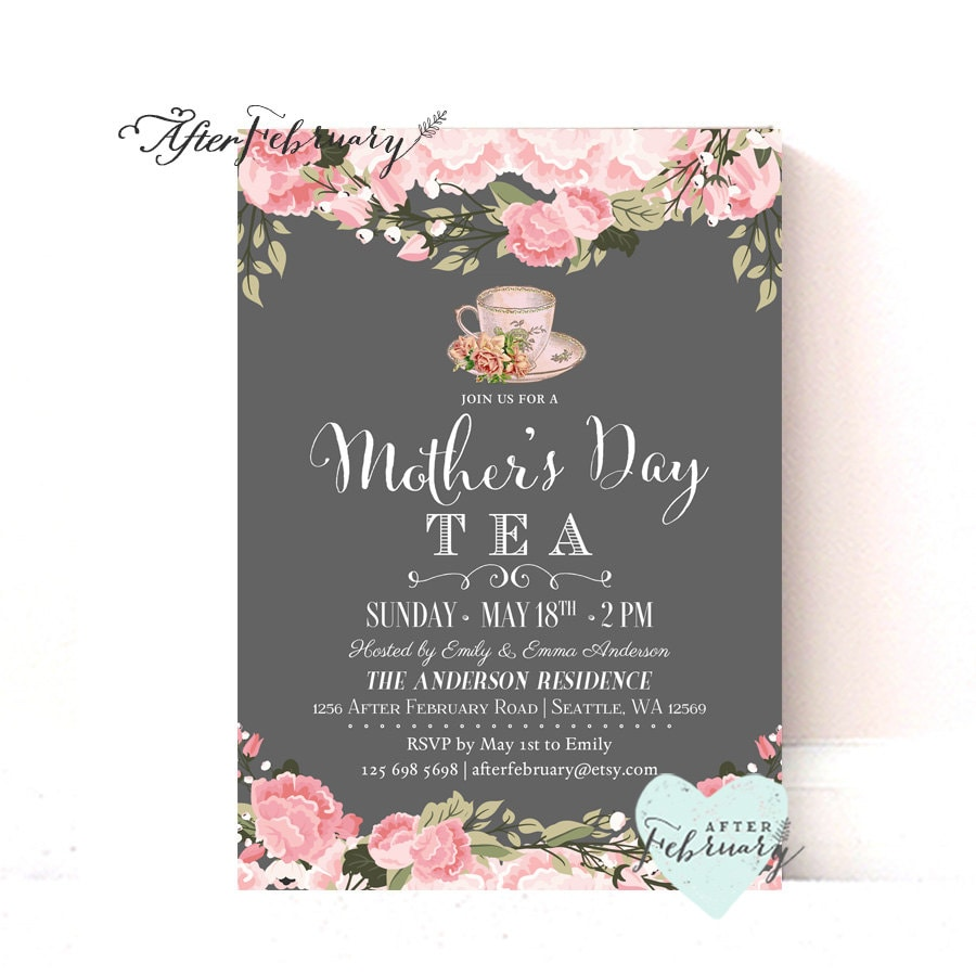 Mother's Day Invitation // Mother's Day Tea Party