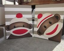 Popular items for sock monkey decor on Etsy