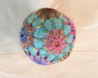 Multicolor Japanese temari ball