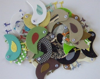 Die Cut Birds -Variety of Colors and Textures
