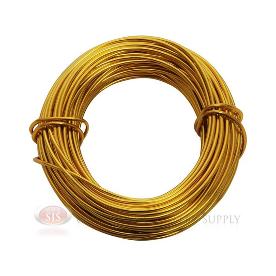 18 gauge gold aluminum craft wire 39 feet 11 8 meters for