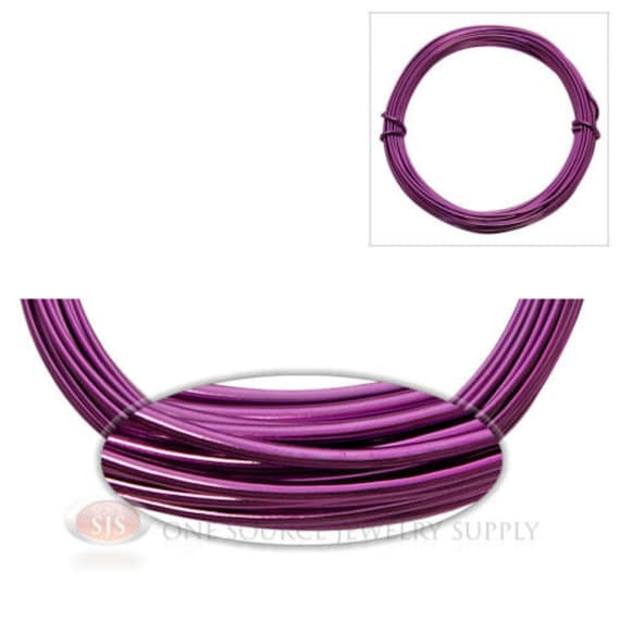 Purple aluminum 12 gauge craft wire for wrapping wire for 12 gauge aluminum craft wire