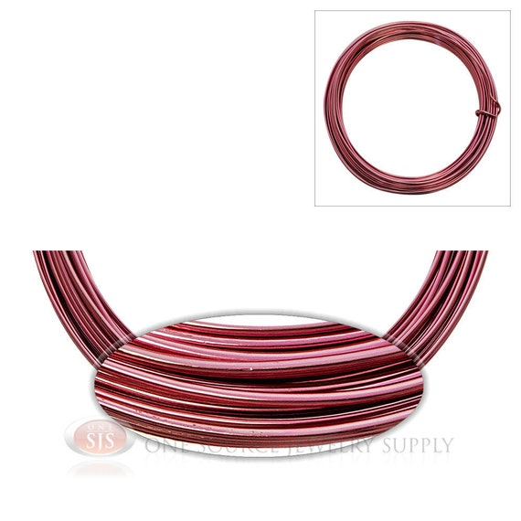 Pink aluminum 12 gauge craft wire for wrapping wire jewelry for 12 gauge aluminum craft wire