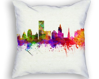 Providence Rhode Island Throw Pillow, 18x18, Cushion Home Decor, Gift Idea, Pillow Case 02