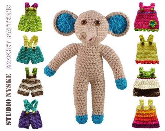 Free Amigurumi Patterns Frog : Amigurumi PATTERN crochet small animal doll by StudioNyske