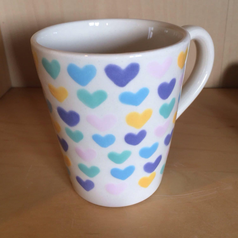 Kawaii Cute Candy Hearts Design Mug