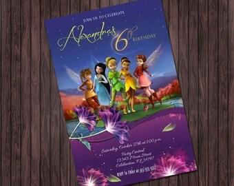 Tinkerbell Fairy #2 Birthday Party invitation - custom diy printable