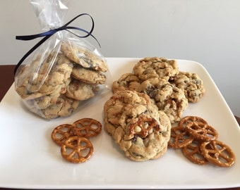 Chocolate and Peanut Butter Chip with Pretzel cookies - 1 dozen