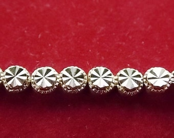 Women's Vintage Estate 14K Yellow Gold Diamond Cut Rope Bracelet, 7.78g E1857