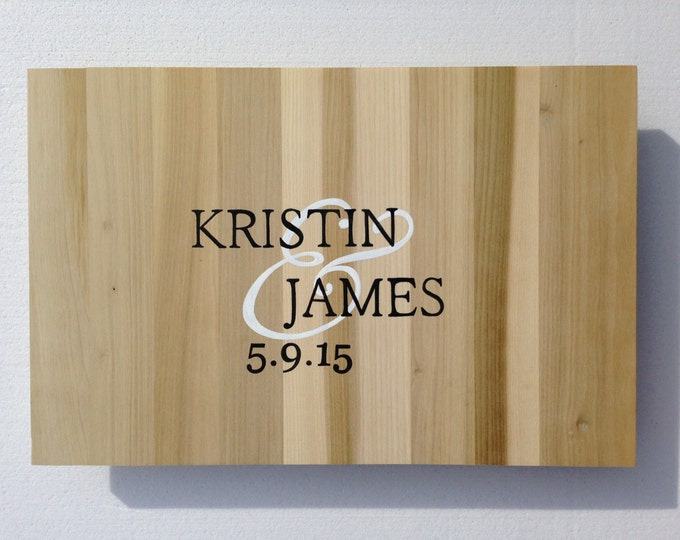 Wood Guestbook Alternative Sign, Unique Wedding Guest book gift idea  Comes with matching Sharpie Pen!!!