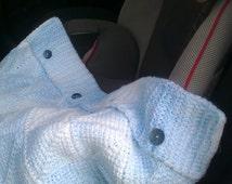 Tunisian Crochet Pattern - Tunisian Diamond Baby Car Seat or Buggy Blanket