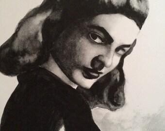 Lauren Bacall Painting Print