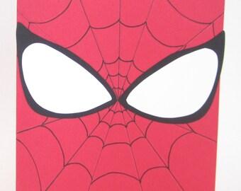 Superheroes Greeting Card; Spiderman inspired