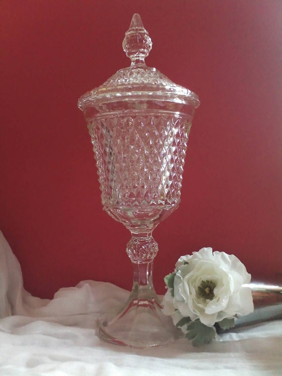 Large vase pedestal compote candy dish by southernvisioncrafts