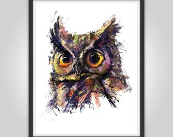 Printable owl digital art instant download