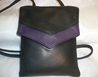 Sm  Leather Cross Body Concealed pocket Bag