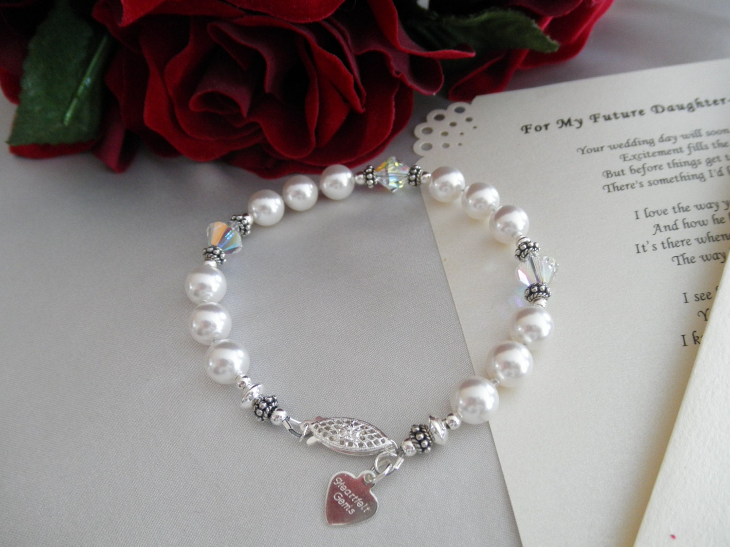 Daughter In Law Personalized Poem: Wedding Bracelet And Personalized Poem Or Note For Your Future