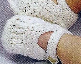 Instant Download - PDF-  Pretty Baby Shoe's Knitting Pattern (42)