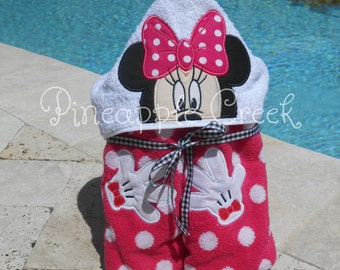 Minnie Mouse 2 Hooded Towel FREE MONOGRAM