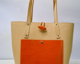 Handmade Leather Oversized Tote Bag