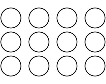 Dots SVG Cutting Pattern - For printing, stencils, cutting and material printing