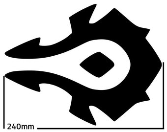 World Of Warcraft Allience Symbol SVG Cutting Pattern - For printing, stencils, cutting and material printing