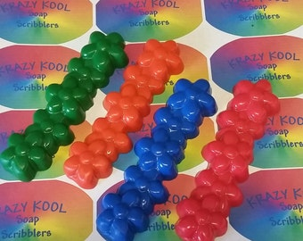Soap Crayons, Flower Soap, Bath Soap Crayons, Bath Crayons, Tub Crayons, Children's Soap, Party Favors, Water Toys