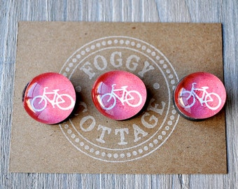 Glass Bike Magnets