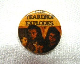 Vintage Very Early 1980s The Teardrop Explodes Pin / Button / Badge
