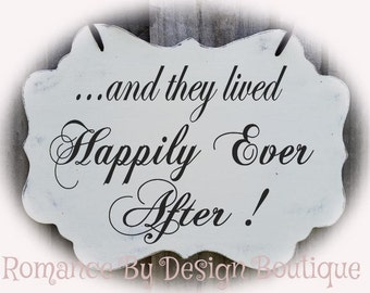 And they lived Happily Ever After Large Shaped Wedding Sign