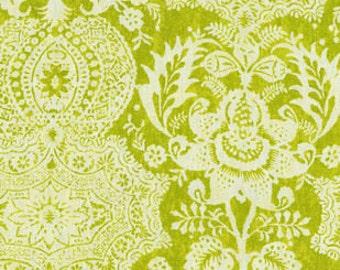 Green Linen Ikat Fabric - Ikat Drapery Fabric - Modern Ikat Fabric - Drapery Fabric By The Yard - Ikat Drapery Linen Fabric