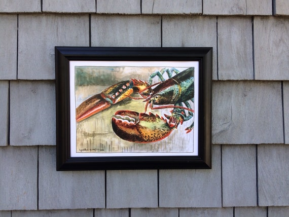 Maine Lobster Print, 8 x 10 inches