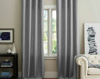 Grey Chevron Curtain Etsy