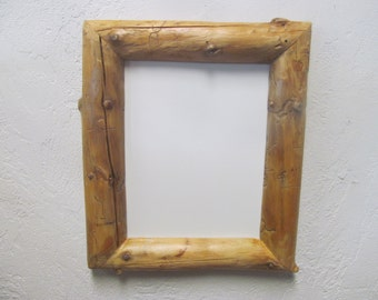 8 x 10 Rustic Picture Frame, Western Decor, Natural wood frame, reclaimed wood frame, cabin decor