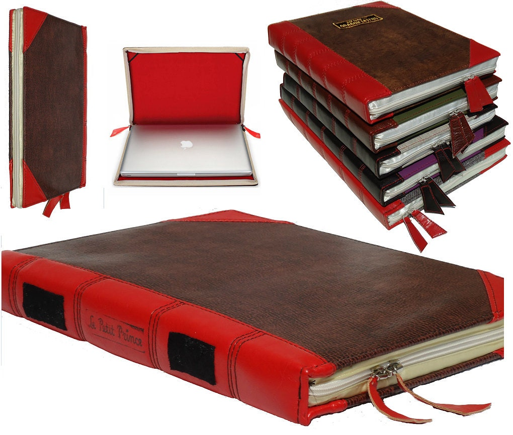 Old Book Computer Case ~ Laptop case book antique asus by