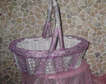 Easter Handmade Pink-Silver Basket