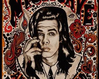 Nick Cave Bad Seeds Denver 2008 Concert Poster Grealish