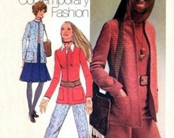 Simplicity 9638 Ladylike Retro Jacket, Skirt, Pants & Shorts 1971 / SZ12 UNCUT