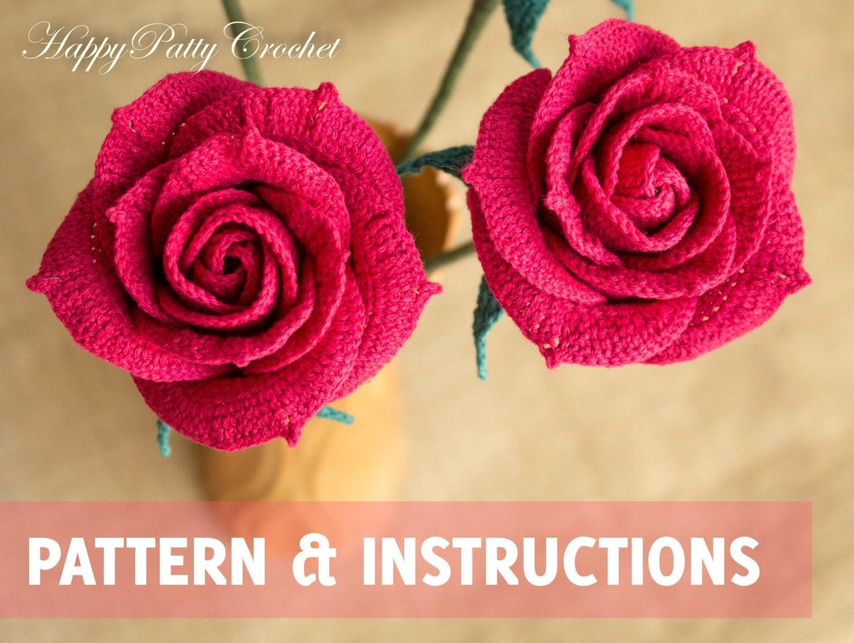 Crochet pattern mini crochet flower pattern small crochet crochet rose pattern crochet flower pattern crochet rose for bouquet and decoration crochet bankloansurffo Gallery