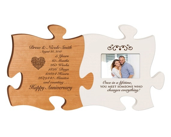 5th Wedding Anniversary Gift Ideas For Him: Personalized 5th Anniversary Gift For Him,Fifth