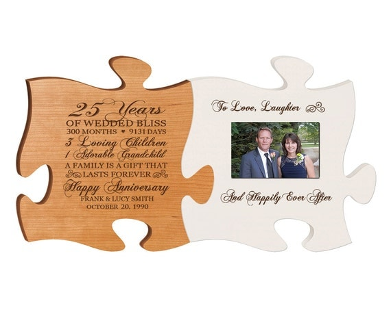 Return Gifts For 25th Wedding Anniversary: Personalized 25th Anniversary Gift For By DaySpringMilestones
