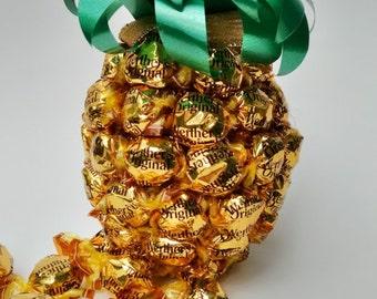 Golden Pineapple Cremy Caramel Candy Arrangement
