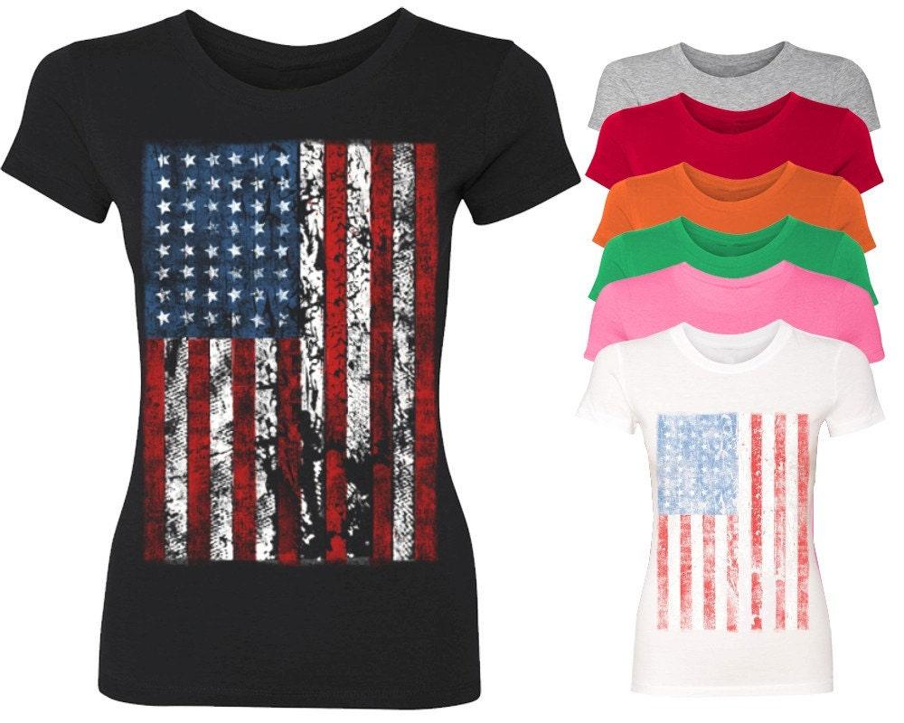 Vintage Usa Flag Women 39 S T Shirt 4th Of July Shirts